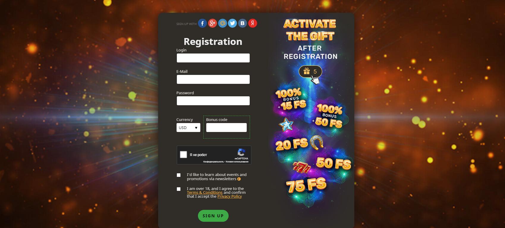 Play Fortuna casino registration