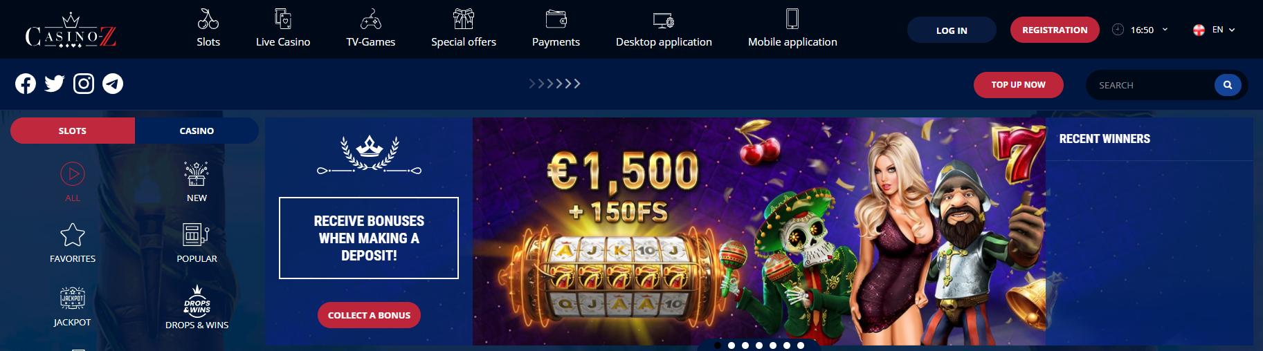 Casino Z official site