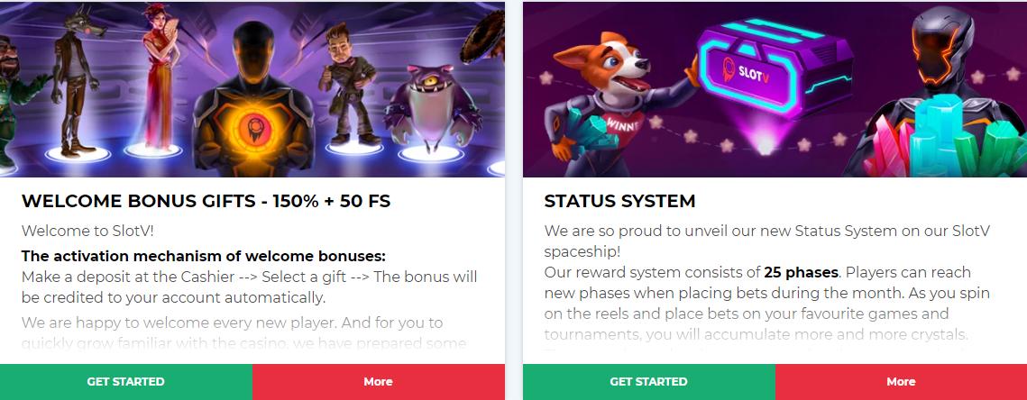 SlotV casino bonuses & promotions